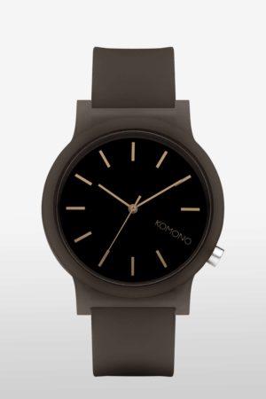 KOMONO MONO Edelstahl mit Silikon-Armband_Black Glow_KOM-W4304_1