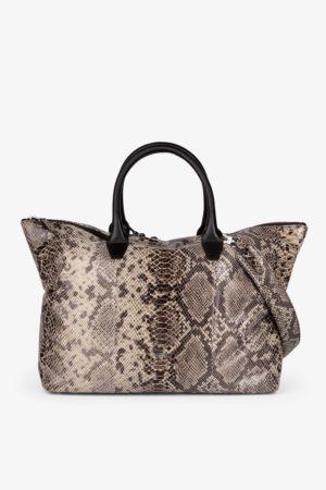 BREE Icon Bag Handtasche Leder taupe-brown snake braun 362848001_4038671017504 kaufen bei stylekrone.com