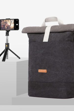 STYLEKRONE »Amsterdam Paket« Ucon Acrobatics Hajo Original Rucksack + 3in1 Bluetooth Selfie Stick-Stativ